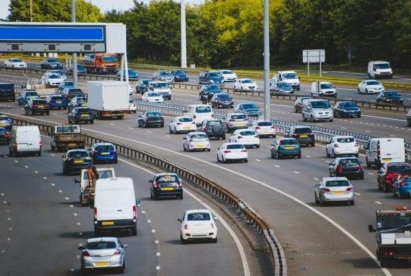 High traffic density on highway