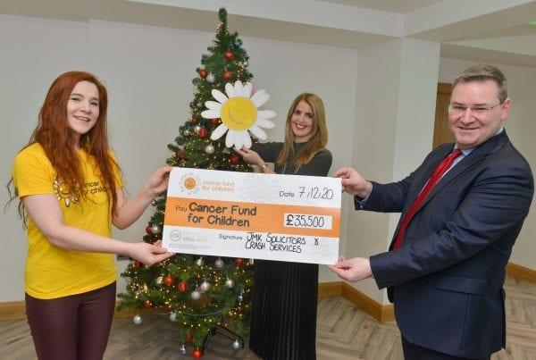 Cancer Fund for Children Cheque Presentation